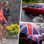 Heatwave OVER: UK weather warnings issued for rain, lightning and floods from Thursday