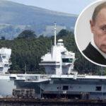 Royal Navy's new £3BILLION warship sets sail 'stalked by Russian spy operation'