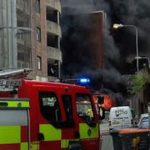 Fire in middle of Cardiff as substation near car park goes up in flames