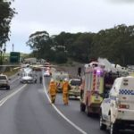 Woman and child killed in Princes Highway car and truck crash