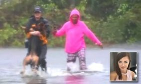 Reporter Stops Broadcast To Save Dog From Floodwater During Hurricane Florence